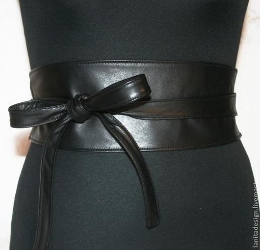 """Пояса, ремни ручной работы. Пояс-кушак """"Black Classic"""". Lanita Design. Ярмарка Мастеров."""