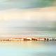 Фото картина город пейзаж пастель для интерьера го «Осенняя соната. Анданте. Тема II», пейзаж с водой, Вид на Стрелку Васильевского острова. Ясный простор неба и воды делают картину воздушной и легкой