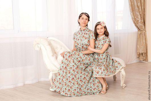 """Платья ручной работы. Ярмарка Мастеров - ручная работа. Купить Платье """"Шебби-1""""на все случаи женской жизни. Handmade. Мятный"""