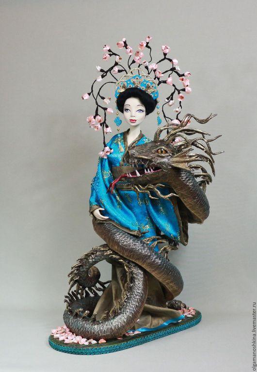 Коллекционные куклы ручной работы. Ярмарка Мастеров - ручная работа. Купить Сакура. Handmade. Интерьерная кукла, подарок на 8 марта