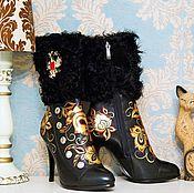 """Обувь ручной работы. Ярмарка Мастеров - ручная работа Полусапоги """"Хохлома"""". Handmade."""