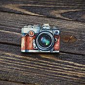 Украшения handmade. Livemaster - original item Wooden Camera icon. Handmade.