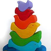 Мягкие игрушки ручной работы. Ярмарка Мастеров - ручная работа Птички пирамидка. Handmade.