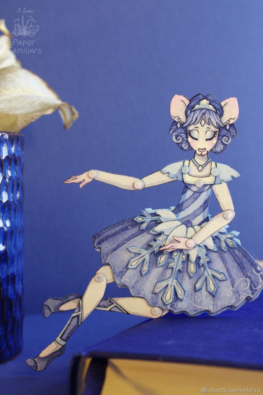 Бумажная кукла Сильверэнь, коллекция PaperFamiliars, Шарнирная кукла, Петропавловск-Камчатский,  Фото №1
