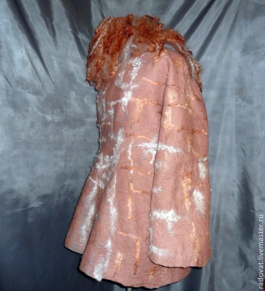 Верхняя одежда ручной работы. Ярмарка Мастеров - ручная работа. Купить пальто валяное. Handmade. Коричневый, пальто зимнее, кудри