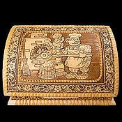 handmade. Livemaster - original item Bread box made of birch bark