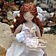 Коллекционные куклы ручной работы. Ярмарка Мастеров - ручная работа. Купить Ангел - мама. Handmade. Оберег, Беременность, шифон