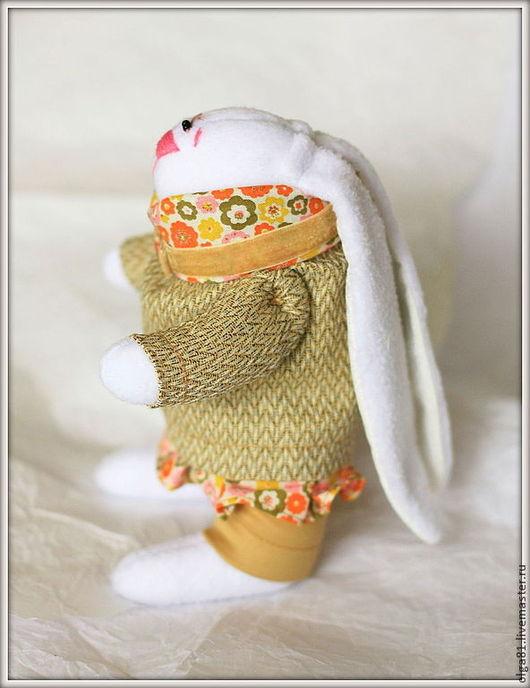 Куклы Тильды ручной работы. Ярмарка Мастеров - ручная работа. Купить Зайка в платье.. Handmade. Оранжевый, тильда заяц