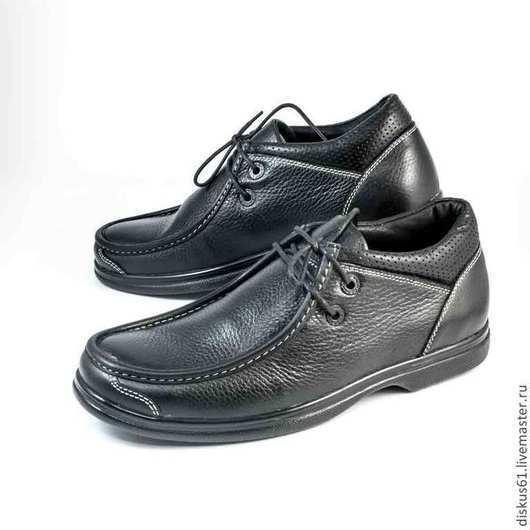 Обувь ручной работы. Ярмарка Мастеров - ручная работа. Купить Туфли мужские  М - 014G. Handmade. Черный, термоэластопласт