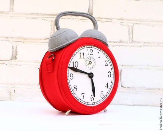 сумка будильник сумка часы из фетра