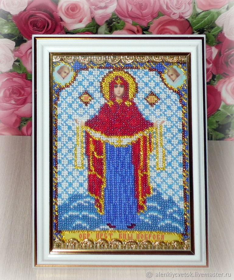 """Икона: """"Покров Пресвятой Богородицы"""", Иконы, Гуково,  Фото №1"""