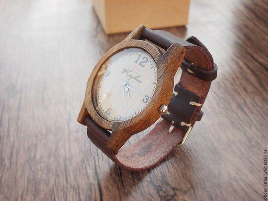"""Часы ручной работы. Ярмарка Мастеров - ручная работа. Купить Часы из дерева PT """"Kryhan Gift"""" (орех) наручные. Handmade."""