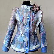 """Одежда ручной работы. Ярмарка Мастеров - ручная работа """"Туманный рассвет"""" Жакет. Handmade."""