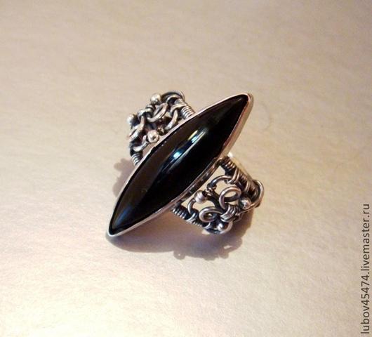 """Кольца ручной работы. Ярмарка Мастеров - ручная работа. Купить Кольцо из серебра """"Ах, эти черные глаза"""". Handmade. Черный"""