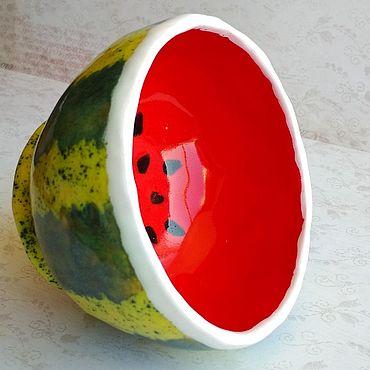 Посуда ручной работы. Ярмарка Мастеров - ручная работа Пиала Арбуз. Handmade.