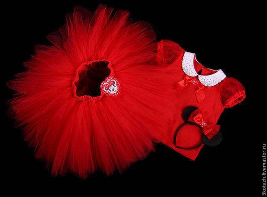 Одежда для девочек, ручной работы. Ярмарка Мастеров - ручная работа. Купить Минни (Minnie Mouse). Комплект для тематической вечеринки. Handmade.