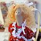 """Куклы Тильды ручной работы. Ярмарка Мастеров - ручная работа. Купить Кукла Тильда """"Эмилия"""". Handmade. Ярко-красный, интерьер"""
