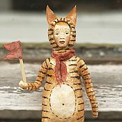 Подарки к праздникам ручной работы. Ярмарка Мастеров - ручная работа Ватная игрушка на ёлку Тигр. Handmade.