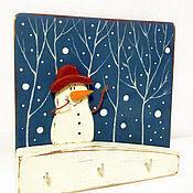 """Для дома и интерьера ручной работы. Ярмарка Мастеров - ручная работа ключница """"Мои милые снежинки"""". Handmade."""