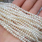 Материалы для творчества handmade. Livemaster - original item 10 PCs. Pearls of natures. 4-5 mm AA white (3229). Handmade.