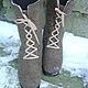 """Обувь ручной работы. Заказать Сапожки-валенки """"Шоколадки"""". Eco Shoes by Julia Pizar. Ярмарка Мастеров. валенки-сапожки"""