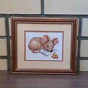 """Картины ручной работы. Ярмарка Мастеров - ручная работа Картина """"Мышонок"""". Handmade."""