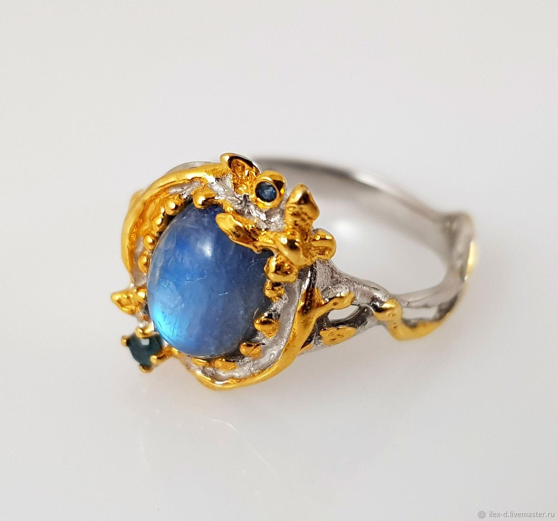 Серебряное кольцо с лабрадором, 925 проба, Кольца, Москва,  Фото №1