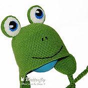 Работы для детей, ручной работы. Ярмарка Мастеров - ручная работа Шапка Лягуха, лягушка, лягушонок. Handmade.
