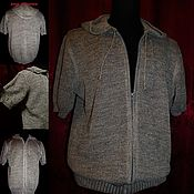 Одежда handmade. Livemaster - original item Connected from thin flax .Sweatshirt. Handmade.