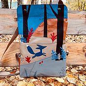 Рюкзаки ручной работы. Ярмарка Мастеров - ручная работа Синяя лиса. Handmade.
