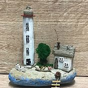 Домики ручной работы. Ярмарка Мастеров - ручная работа Островок с маяком.. Handmade.