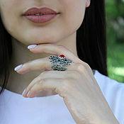 Украшения handmade. Livemaster - original item ring of silver 925 with cornelian. Handmade.