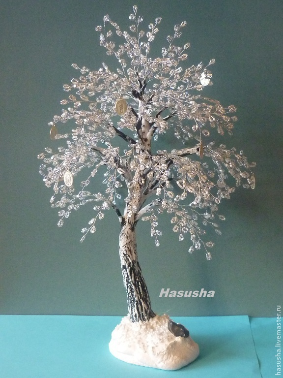 Зимние деревья из бисера мастер класс с пошаговым для начинающих