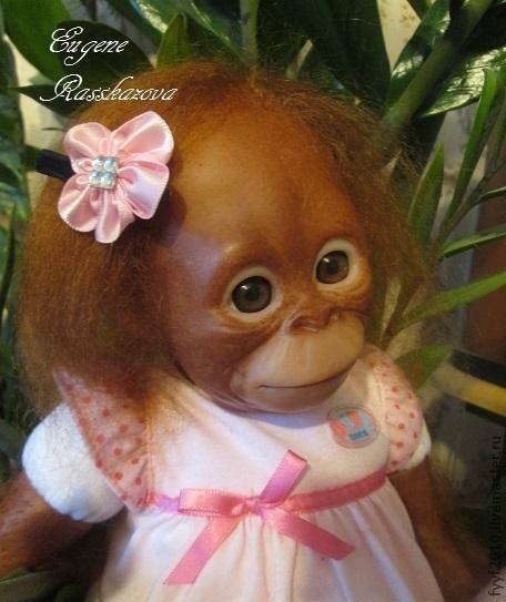 Куклы-младенцы и reborn ручной работы. Ярмарка Мастеров - ручная работа. Купить обезьянка-реборн Бинди. Handmade. Оезьянка реборн
