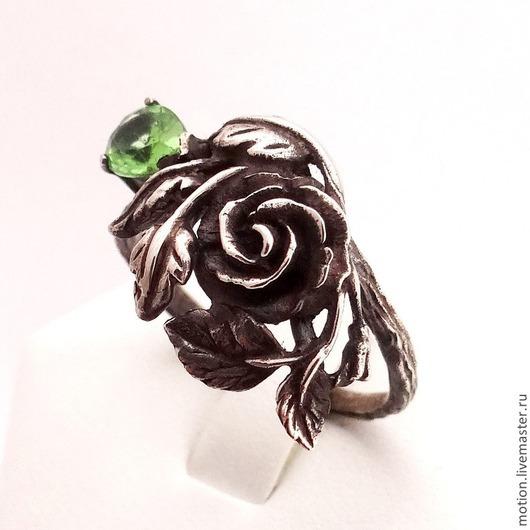 Кольца ручной работы. Ярмарка Мастеров - ручная работа. Купить Колечко Роза с цирконом, сделанный из серебра 925 пробы. Handmade.