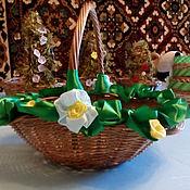 Подарки к праздникам ручной работы. Ярмарка Мастеров - ручная работа Корзинка пасхальная округлый квадрат. Handmade.