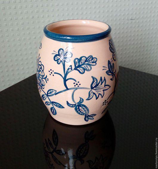 """Вазы ручной работы. Ярмарка Мастеров - ручная работа. Купить Ваза """"Распустились синие цветы"""". Handmade. Керамика, подарок для женщины"""