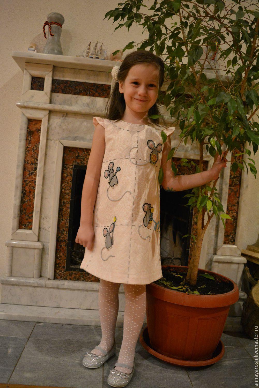 Платье бисер ручная работа