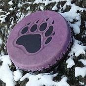 Музыкальные инструменты handmade. Livemaster - original item The bear`s paw. Vedic tambourine purple. 25 cm. Handmade.