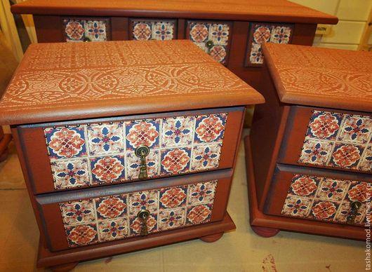 """Мебель ручной работы. Ярмарка Мастеров - ручная работа. Купить Спальня  """"Марокко"""" ч.2 (Прикроватные тумбы). Handmade. тумба"""