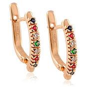 Украшения handmade. Livemaster - original item 585 gold earrings with diamonds, rubies, emeralds and sapphires. Handmade.