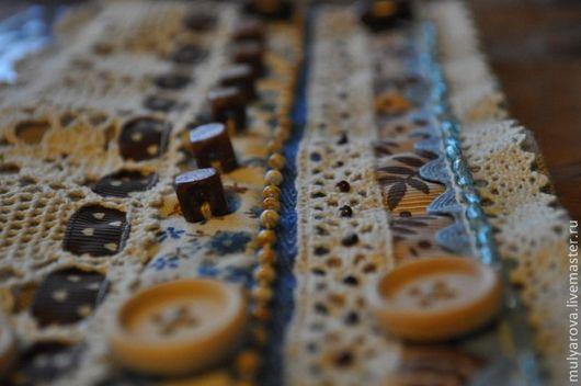 Браслеты ручной работы. Ярмарка Мастеров - ручная работа. Купить Браслет Винтажный (Джинс) в стиле Бохо, текстильный. Handmade. Коричневый
