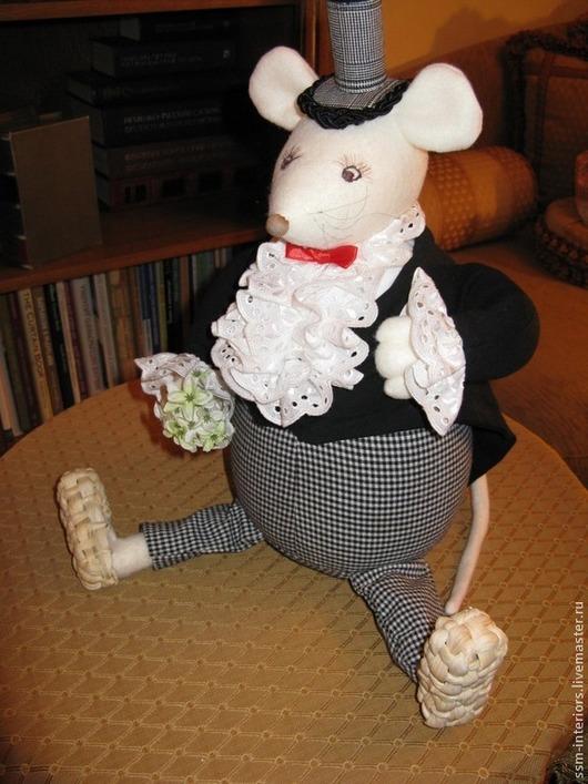 """Коллекционные куклы ручной работы. Ярмарка Мастеров - ручная работа. Купить Интерьерная игрушка """"Мистер Крыс"""". Handmade. Текстильная кукла"""