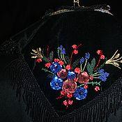 Сумки и аксессуары handmade. Livemaster - original item Evening bag-Handkerchief with fringe. Handmade.