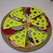 """Куклы и игрушки ручной работы. Ярмарка Мастеров - ручная работа Игровой набор """"Пицца"""". Handmade."""