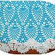 """Одежда для девочек, ручной работы. Заказать Летнее платье крючком для девочки """"БИРЮЗОВЫЙ АНАНАС"""". Рицберг Наталья (Natali Rizberg). Ярмарка Мастеров."""