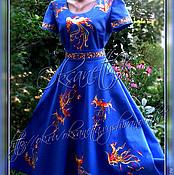 """Одежда ручной работы. Ярмарка Мастеров - ручная работа Платье с вышивкой  """"Жар-птицы"""". Handmade."""