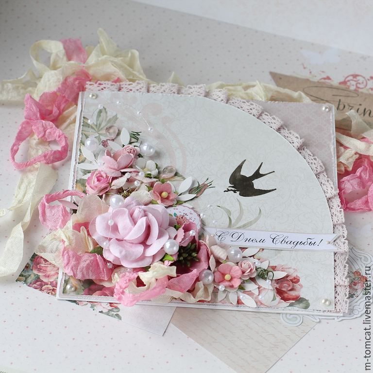 открытки с днем свадьбы ручной работы