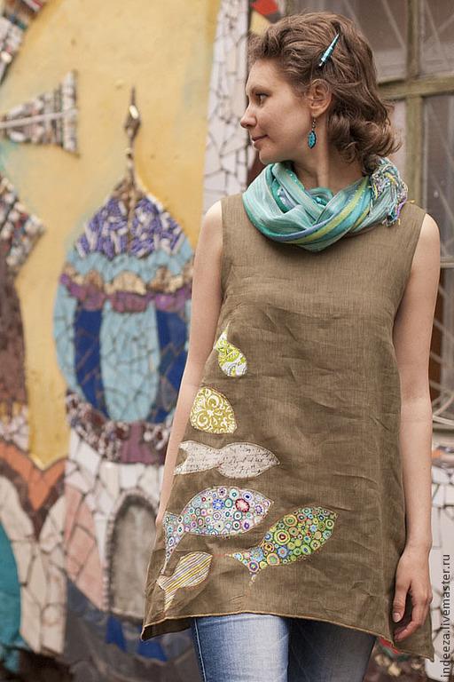 Dress-boho 'With the fishes', Dresses, Samara,  Фото №1