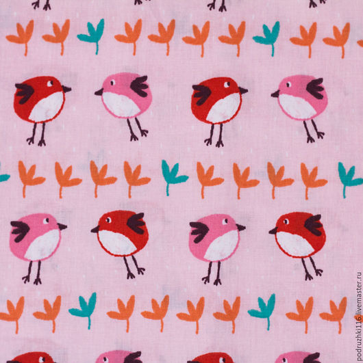 Шитье ручной работы. Ярмарка Мастеров - ручная работа. Купить Ткань Хлопок Птички Франция. Handmade. Хлопок, хлопок для игрушек